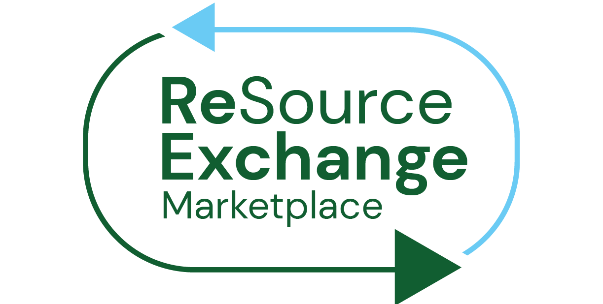 Resource Exchange marketplace logo - a circle with two green arrows